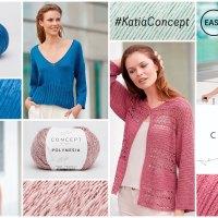 10 diseños elegantes fáciles de tejer con nuestra cuidada selección de hilos naturales Concept by Katia