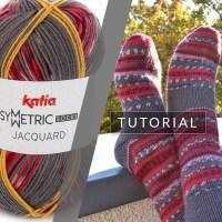 Cómo tejer un par de calcetines idénticos con un ovillo de Katia Jacquard Symmetric Socks