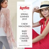 5 nuevas revistas de patrones Katia: 265 ideas de punto, ganchillo y macramé Primavera-Verano 2019