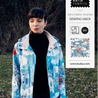 Hackde costura: Aprende a modificar un patrón de impermeable paso a paso con Sasha