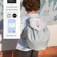 Aprende cómo coser una mochila infantil para la vuelta al cole con el panel polar bear bag