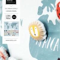 Aprende cómo coser el panel infantil mapamundi con el nuevo tejido Canvas Slim