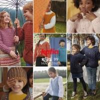 ¡Hora de jugar! Descubre más de 30 patrones de punto para niños hasta 12 años en la nueva revista Katia Niños 99