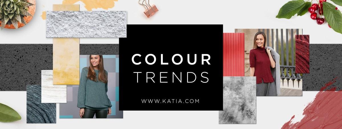 7 couleurs tendance de Concept by Katia à tricoter et crocheter cet Automne-Hiver 2018-2019