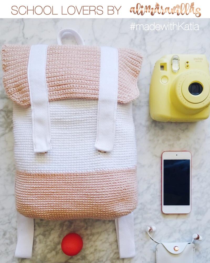 Patrons de crochet d'Alimaravillas: un sac à dos, trousse et
