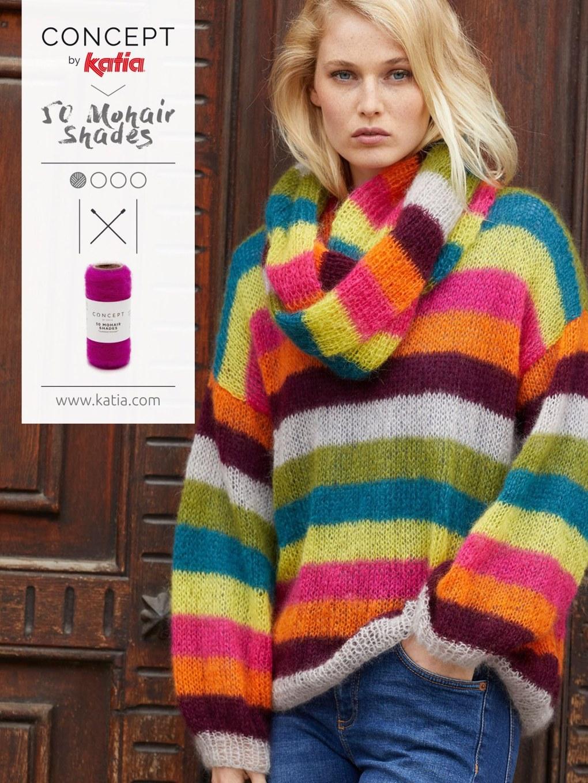vêtements confortables tricot pull mohair