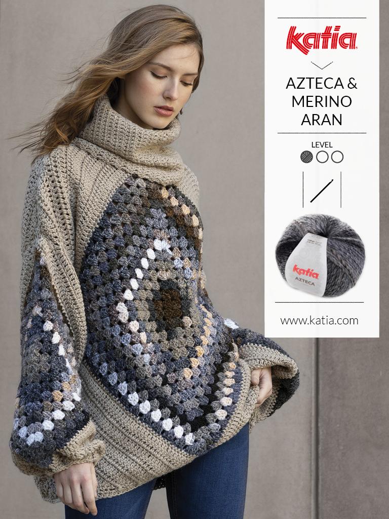 pulls faciles crochet granny square