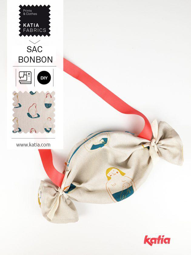 patron gratuit de sac pour enfant en forme de bonbon feat
