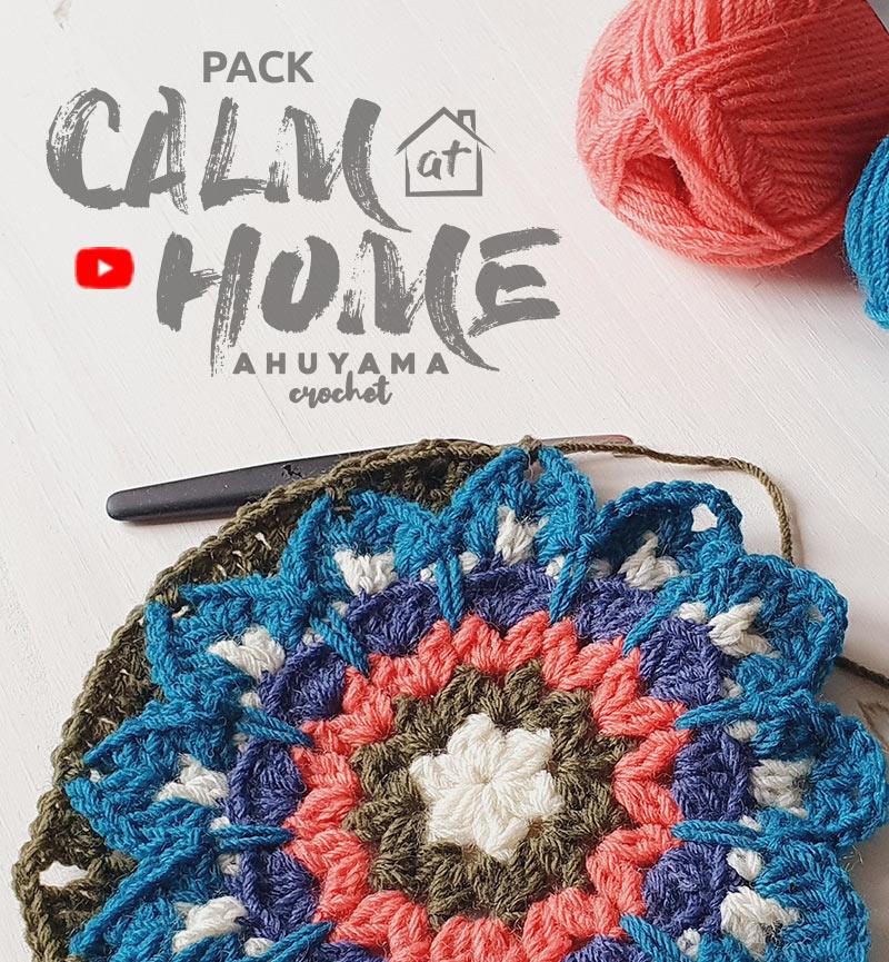 défi crochet mandalas Calm at Home feat
