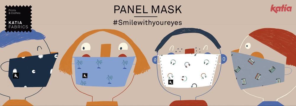 panel mask #smilewithyoureyes katia fabrics