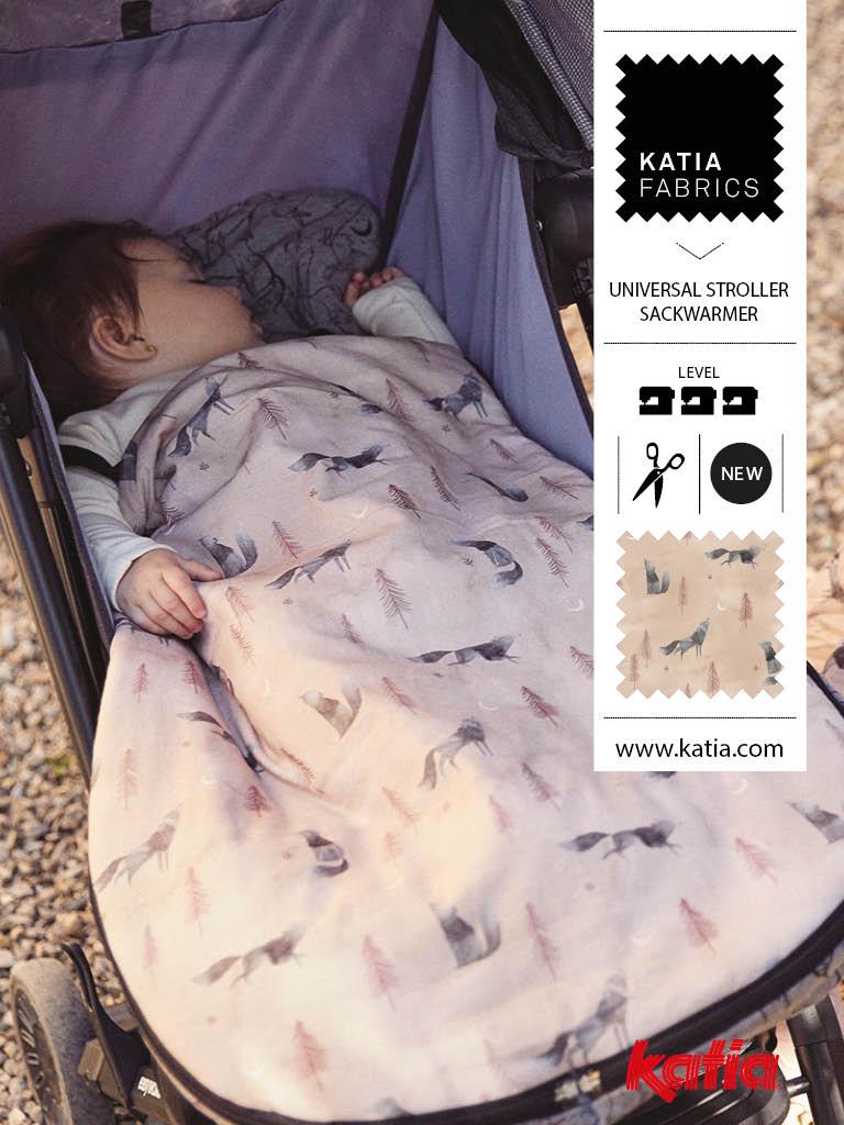 nouveaux tissus Katia Fabrics poussette