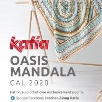 Oasis Mandala CAL 2020: Le kit aux couleurs inédites Katia Basic Merino est maintenant disponible
