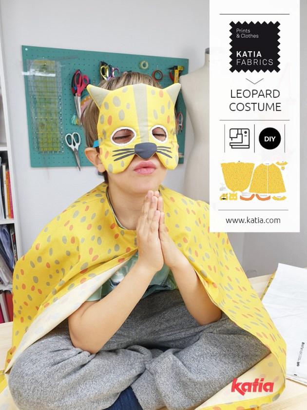 coudre déguisement léopard carnaval enfant