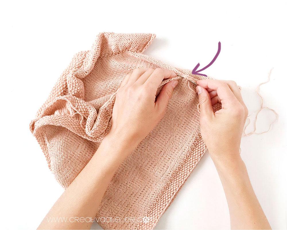 tricoter un top à volant pour bébé - 13