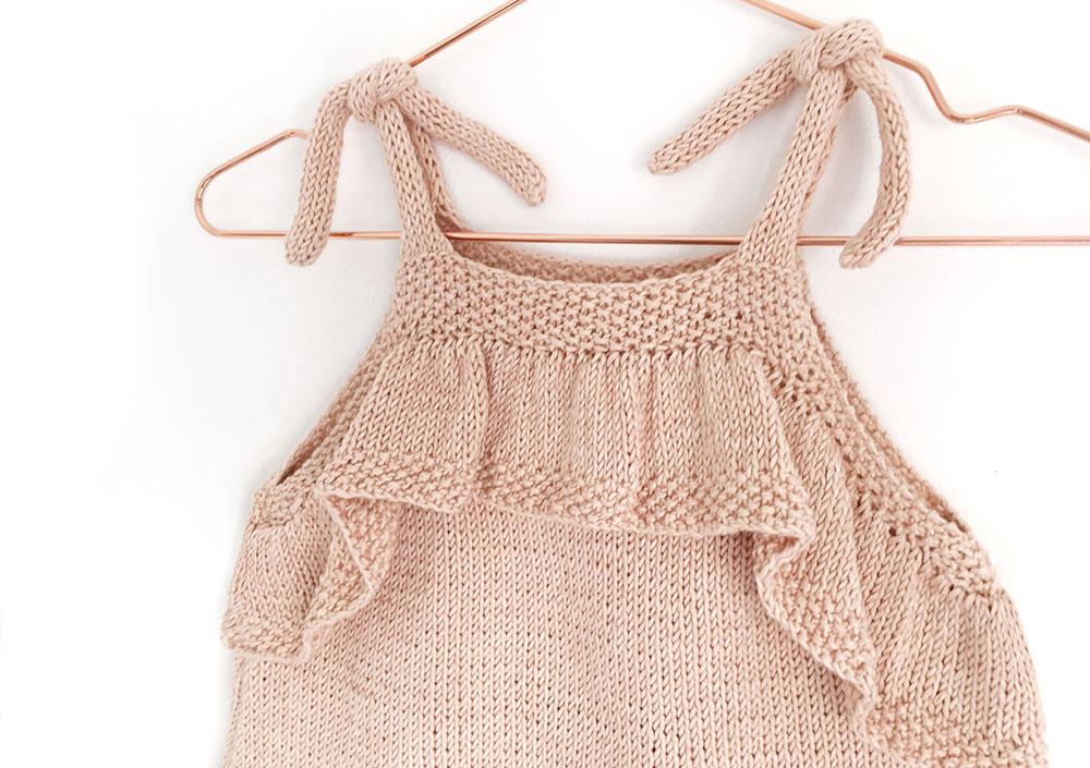 tricoter un top à volant pour bébé - 16