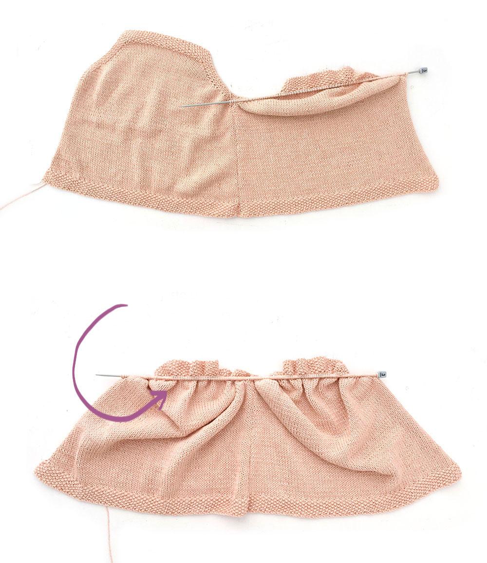 tricoter un top à volant pour bébé - 9