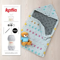 Nouveau patron universel au crochet: Nid d'ange pour bébé créé par Knitting Sheep avec Katia Bambi