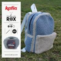 DenimBag de MadeinRox: Le sac à dos au crochet idéal pour partir en voyage, aller à un concert, emporter vos ouvrages partout où vous allez…