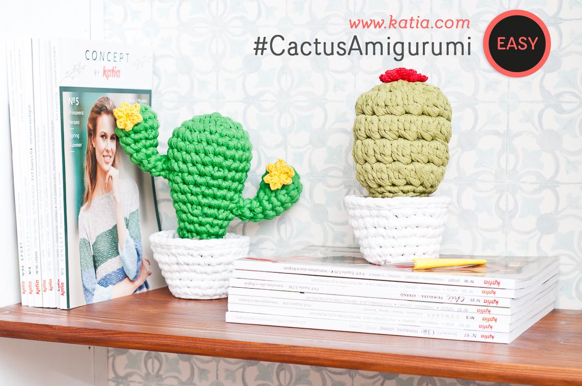 2 Cactus Amigurumi très simples à réaliser. Crochetez ces adorables serre-livres pour décorer votre intérieur !