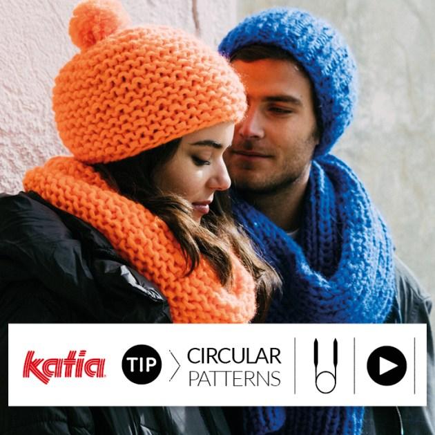 tricoter avec des aguilles circulaires feat