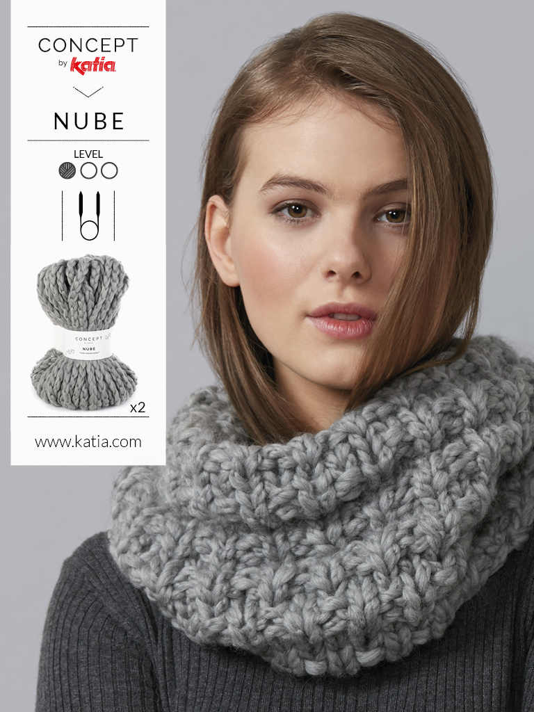 tricot snood femme