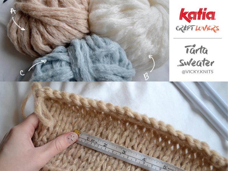 pull tricot échantillon gauge