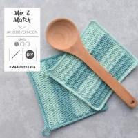 Choisissez 2 couleurs de Fair Cotton et crochetez deux maniques Mix & Match de @hobbydingen