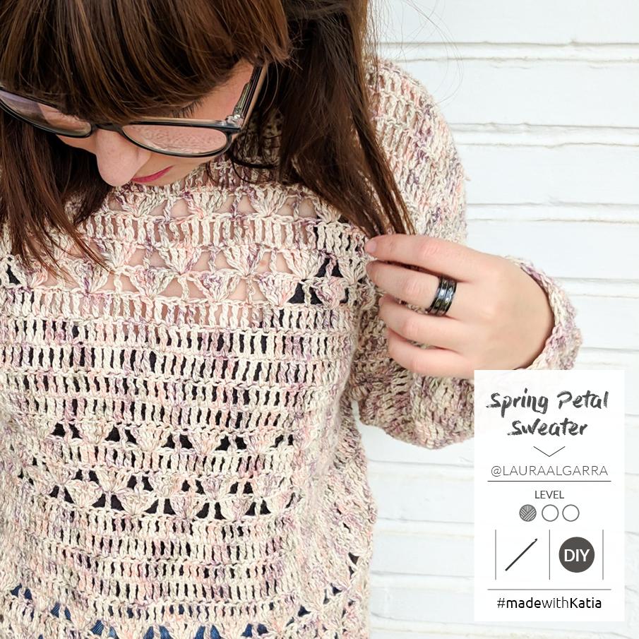 pull facile au crochet spring petal laura algarra