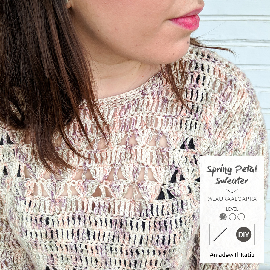 pull facile au crochet spring petal laura algarra 2