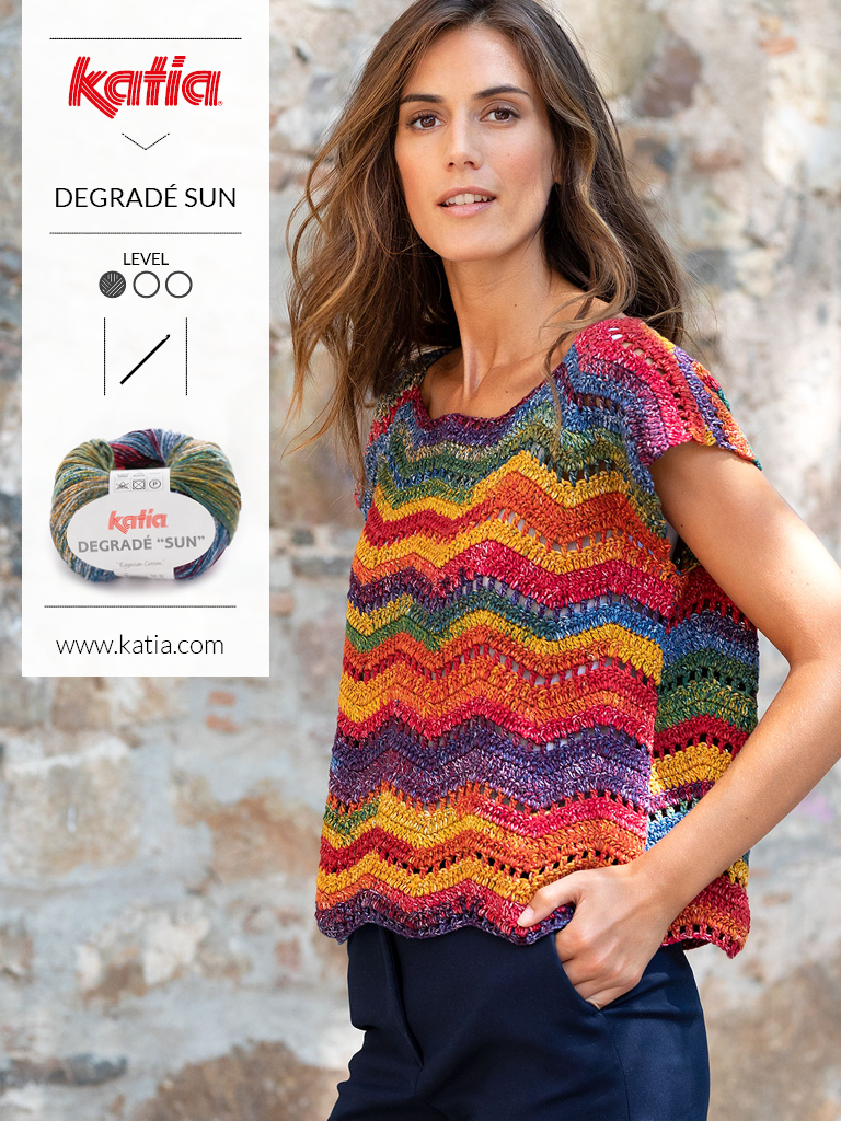 10 tops crochet degrade sun