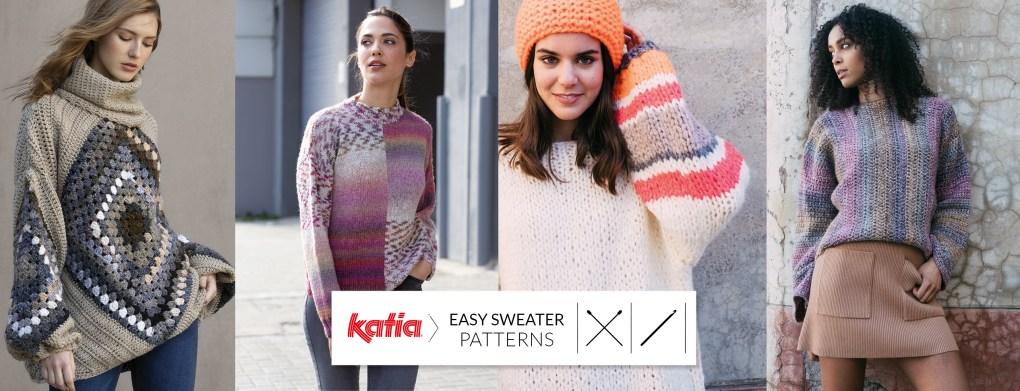 pulls faciles au tricot et crochet slide