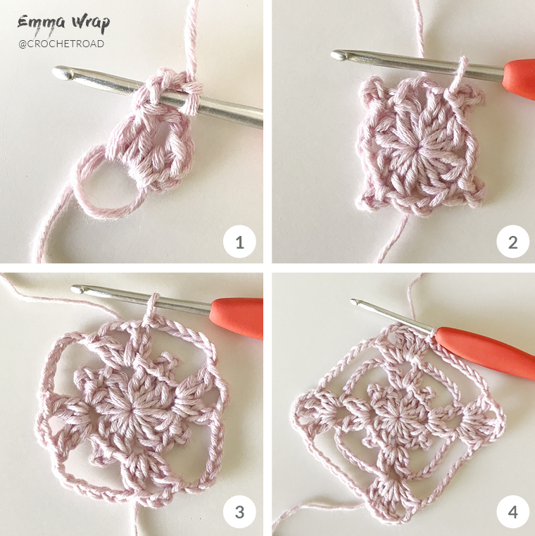 granny square crochet 1