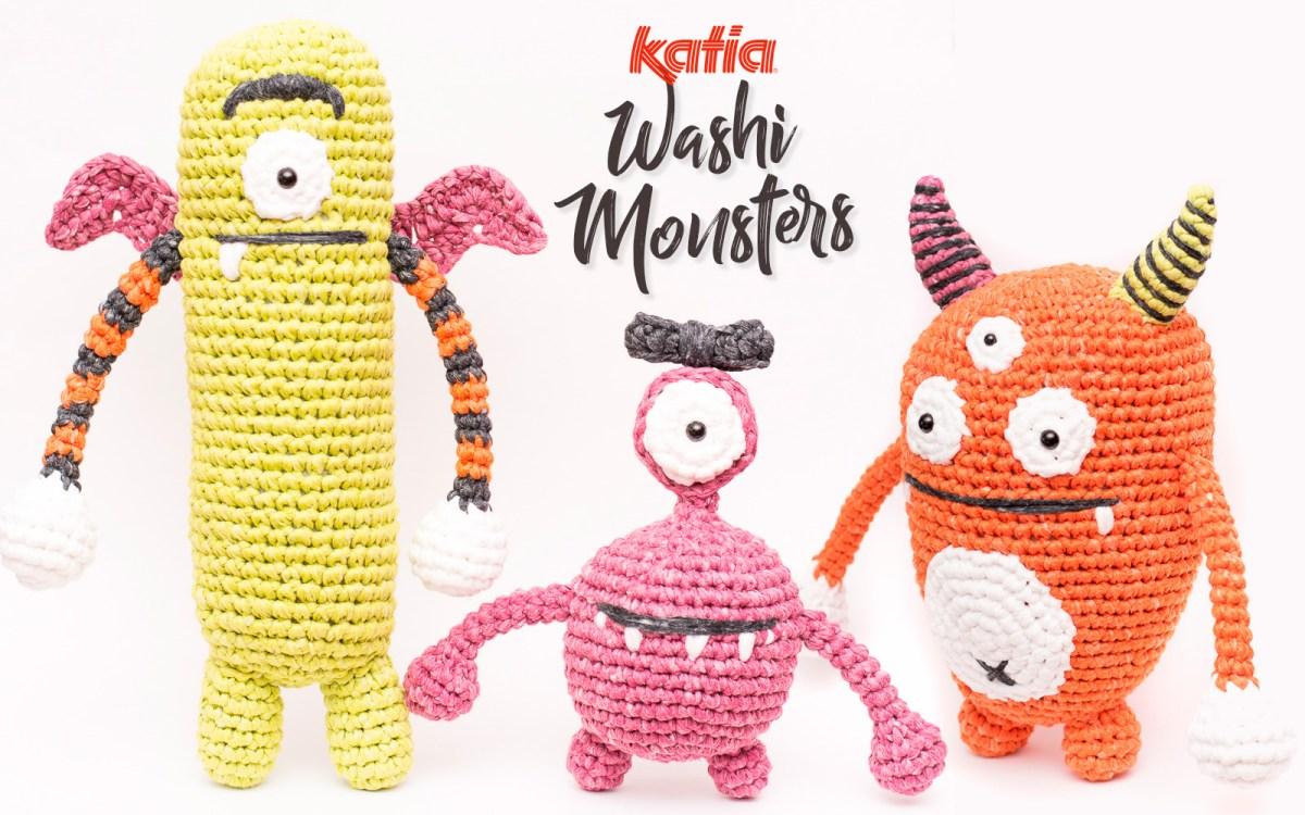 3 monstres amigurumi à crocheter avec Katia Washi pour Halloween: pique-niquons avec la Famille Monstrueuse!