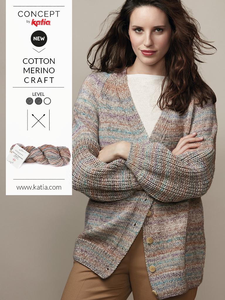 Nouveautés Katia Automne-Hiver 2019-2020 cotton merino craft
