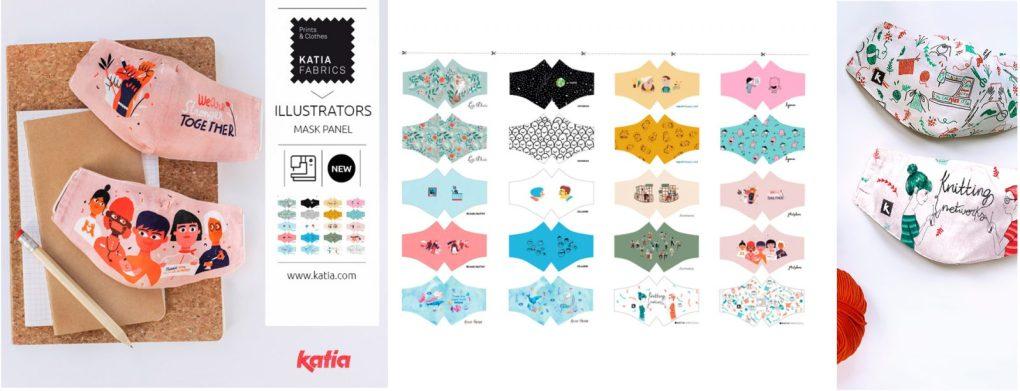 masques en tissu à coudre Illustrators