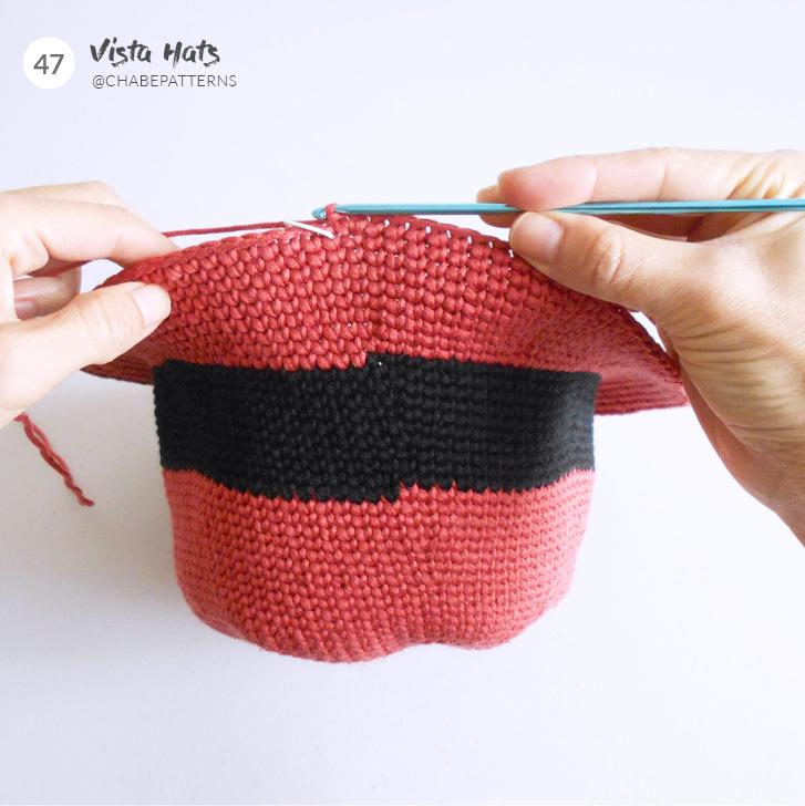 fermer maille en rond crochet