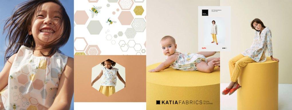collection-tissus-katia-fabrics-printemps-ete-2019 bee garden