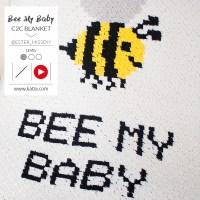 Apprenez la technique de crochet C2C grâce à la vidéo pour faire la couverture bébé Bee my Baby avec Katia Alabama