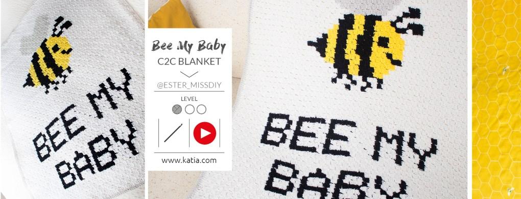 crochet c2c bee my baby slide