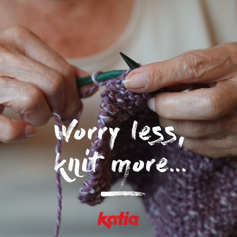 Worry less, knit more