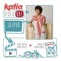 Lavora un coloratissimo Scialle Coda di Drago con 2 gomitoli di Katia Jaipur, unisciti al VideoKAL Speciale Primavera!