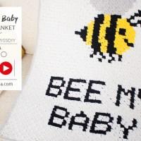 Leer C2C haken met deze video en haak je eigen Bee My Baby deken met Katia Alabama
