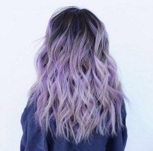 violet hair look