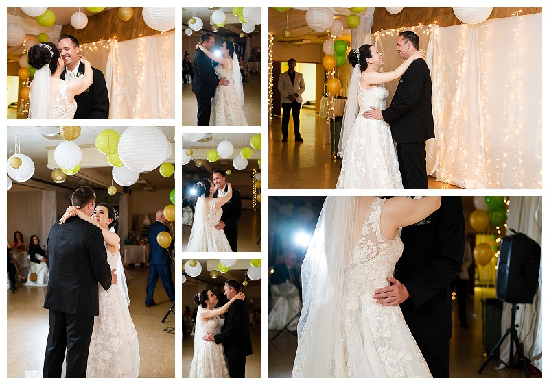 wedding photos of first dance