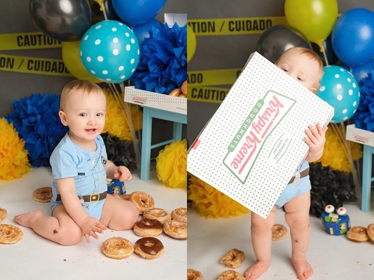 police themed donut smash
