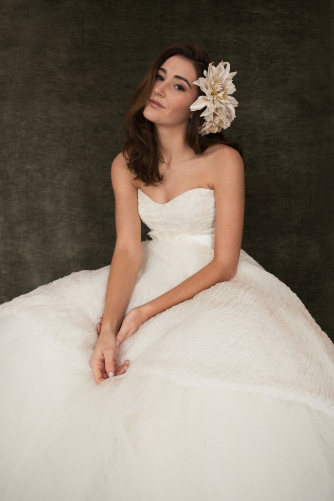 Fashion inspired portrait of debutante gown.