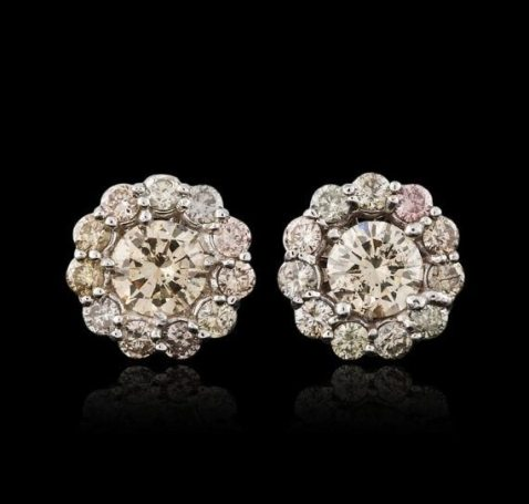 Diamond Stud Earrings Jewelry