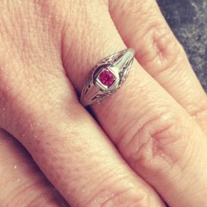 Victorian Ruby Engagement Ring