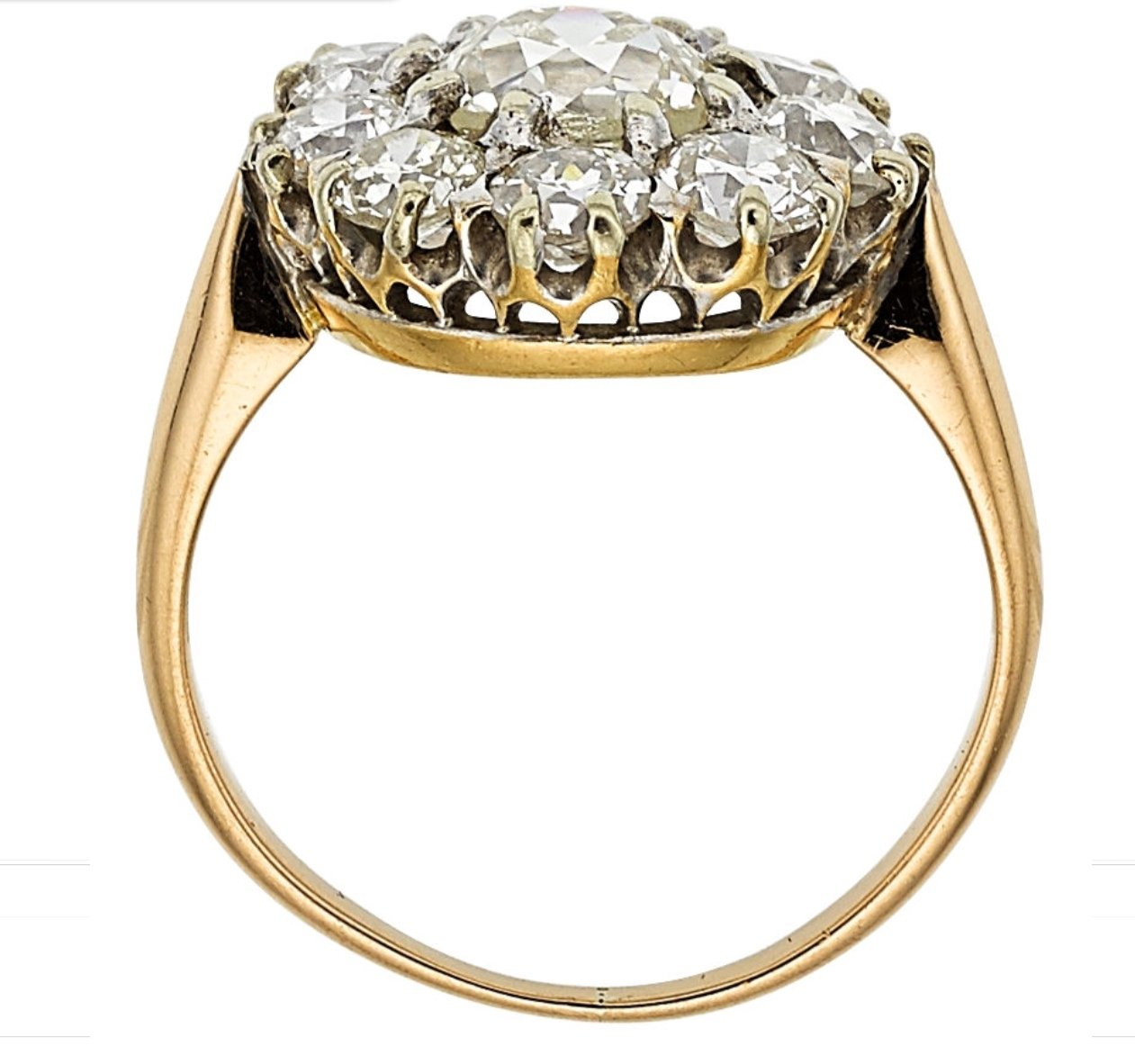 engagement in item ring accessories settings mounting jewelry from cut on gold bridal full yellow diamond rings emerald