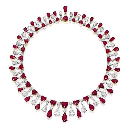 The Fai Dee Red Emperor Necklace Rubies and Diamonds